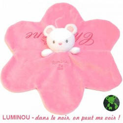 Doudou Luminou personnalisable rose