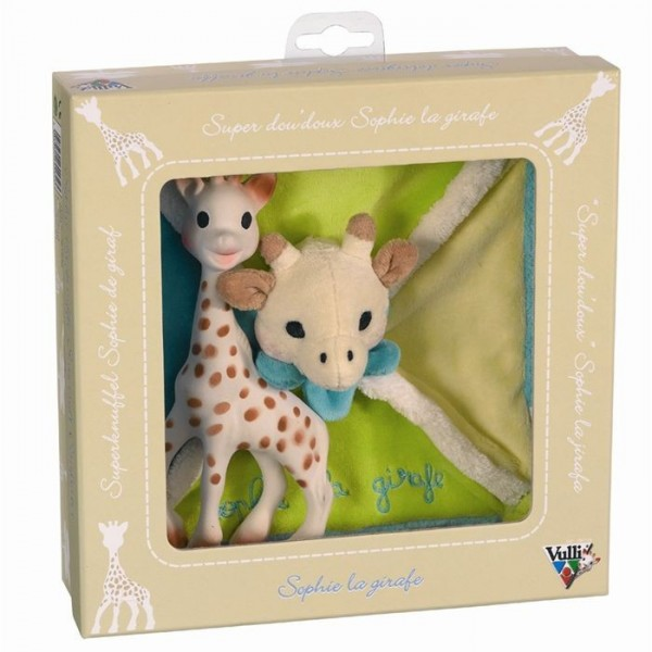 sophie la girafe coffret naissance doudou carr. Black Bedroom Furniture Sets. Home Design Ideas