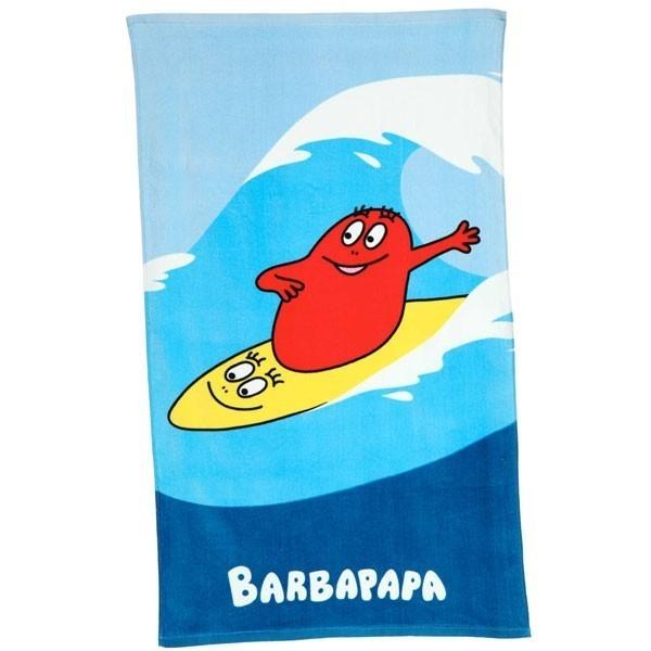 barbapapa drap de plage surf bleu 70x120cm. Black Bedroom Furniture Sets. Home Design Ideas
