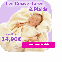 couverture bébé personnalisé petit prix Doudou personnalisé avec prénom. Kidoudou.: Idées cadeaux  couverture bébé personnalisé petit prix